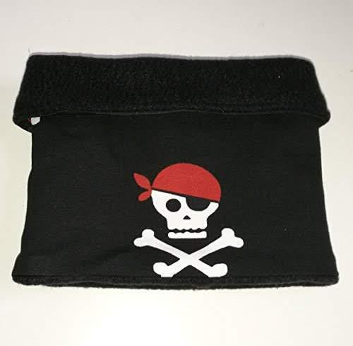 Piraten-Schal für Hunde schwarz Hundeschal Totenkopf (L (41-45 ()