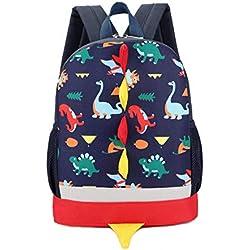 LESNIC Sac à Dos Enfant Sac Maternelle Fille Garçons Motif Dinosaure Enfant Garçon Fille École Maternelle Sac d'école 2-7 Ans