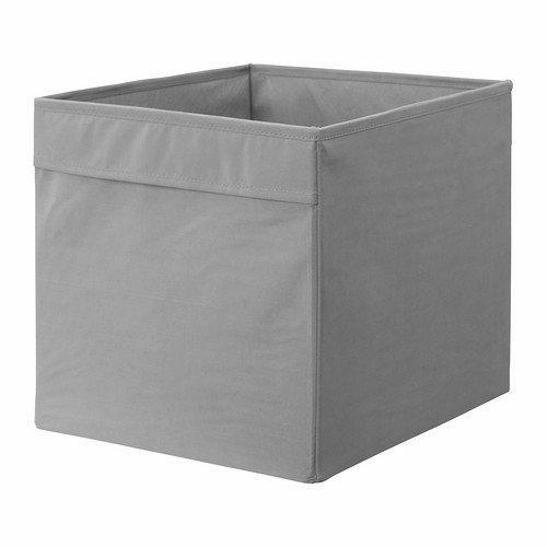 Ikea Regalfach Dröna Aufbewahrungsbox Regaleinsatz in 33x38x33 cm (Bxtxh) -Grau-Passend für...
