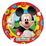 Amscan 23cm Mickey Mouse 10-Clubhouse Paper Plates