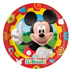 Amscan 23 cm Mickey Mouse 10-Clubhouse Pappteller