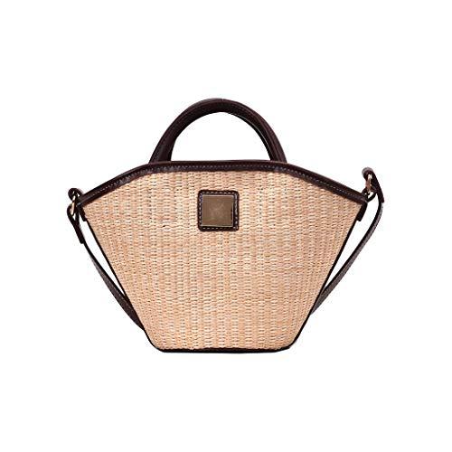 Mitlfuny handbemalte Ledertasche, Schultertasche, Geschenk, Handgefertigte Tasche,Damenmode Retro Gewebte Umhängetasche Einfarbige Handtasche Gewebte Tasche Strandtasche -