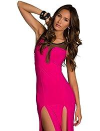 4504 Tailliertes Maxikleid Stretch-Stoff dress robes verschiedene Varianten