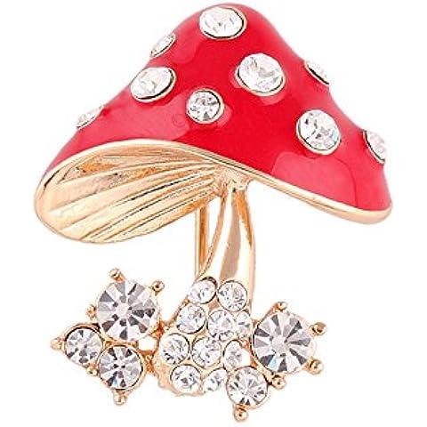 Natale Moda Carina Lega Rhinestone Fungo Rosso Regalo Di Festival