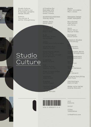 Studio Culture: The secret life of the graphic design studio por Adrian Shaughnessy