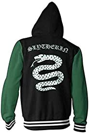 Harry Potter Hoodie Cardigan Sweatshirt, Harry series Slytherin 3D Print Sweatshirt Unisex Zipper Jacket Long