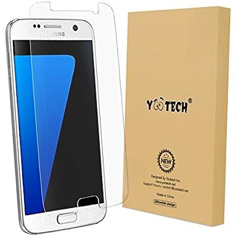 Galaxy S7 Protector de pantalla, YOOTECH [Cobertura Completa] [Este Caso] [Anti-Scratch] [Reutilizable] Wet Applied Protector de pantalla para Samsung Galaxy S7 HD Claro Anti-Burbuja Película- Garantía de por vida