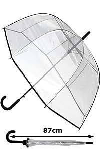 Parapluie Canne SOLIDE Transparent Résistant Au Vent