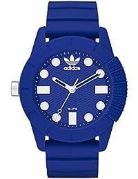adidas Duramo - Reloj de cuarzo con correa de caucho unisex, color negro