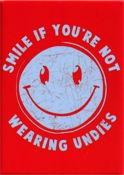 Smile If You're Not Wearing Undies Magnet SM4024 by Hot Properties