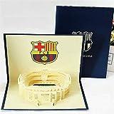 BC Worldwide Ltd 3D pop up card FC Barcelona Camp Nou estadio cumpleaños, día del padre, día de San Valentín, aniversario de bodas, Navidad, día de la madre, regalo de año nuevo