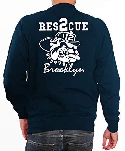 feuer1 'Sweat Rescue 2 - Pompiers avec Fire Fighting Bulldog - Brooklyn - New York L Bleu Marine