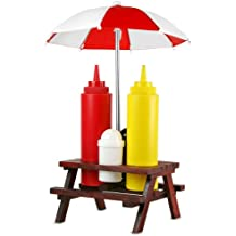 Picnic Bench Condiment Set | Picnic Table Condiment Set, Condiment Holder, Sauce Holder, Sauce Bottle Holder, Sauce Set