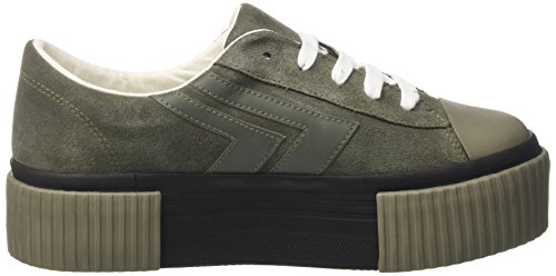 Jeffrey Campbell Jcpmongosue, Sneaker a Collo Basso Donna Verde (Military Green)