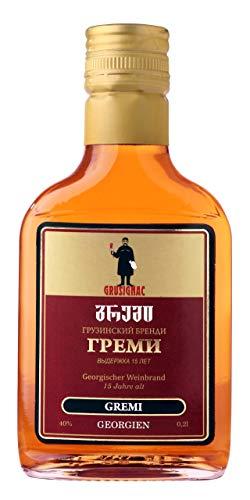 Georgischer Weinbrand GREMI, 15 Jahre Alt, 40%, 0,2Liter, aus autochthone georgische Rebsorte...