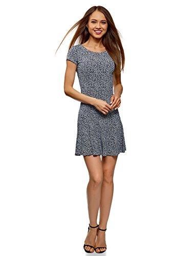 oodji Ultra Damen Kurzes Kleid mit Volants, Mehrfarbig, DE 32 / EU 34 / XXS -