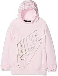 Nike G NSW Modern Po Gfx Sudadera, Niñas, Rosa (Arctic Pink), L