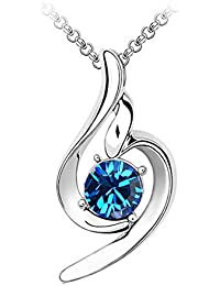 f7537c9fe088 AIFEI Elegante Minimalista símbolo Musical Colgante de Cristal Collar de  Mujer