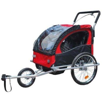 2 in 1 Jogger Fahrradanhänger Fahrrad Anhänger Transportwagen