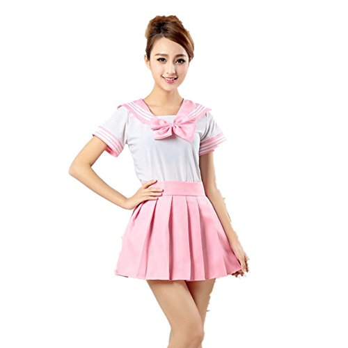 Missley Cute School Uniform Kleid Mädchen Outfit Sailor Uniform Cosplay Kostüm (s, (Outfit Sailor)