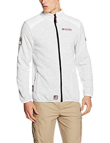 Geographical Norway Tuteur Men - Chaqueta de Videojuegos para hombre, color blanco (white), talla X-Large