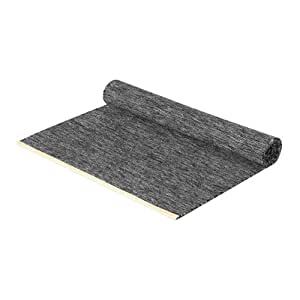 House tapis design stockholm björk tapis 70 x 130 cm-gris foncé, lena bergström laine et cuir