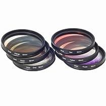 Ensemble de filtres couleur progressifs 52mm Kit filtre progressif rouge, orange, vert, jaune, violet, gris, 52mm pour Nikon D4 D3X D800 D700 D600 D300S D300 D7100 D7000 D5200 D5100 D5000 D3200 D3100 D3000 D90 D80 D70 D60 D50 D40 D800 D600 D5000 D3000 LF139