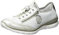 Rieker Damen L3263 Sneaker, Ice/Weiss/Argento/silverflower / 80), 39 EU