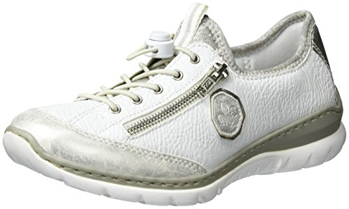 Rieker Damen L3263 Sneaker IceWeissArgentosilve