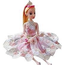 8b70a89515 Naisicatar Vestido de Boda de los Vestidos de la Princesa Ropa de Fiesta  Traje para la