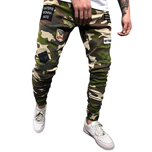 Camouflage Hosen Herren Lang Freizeithosen Männer Casual Beam Fuß Lange Hose mit Tasche Jogger Cargo Herren Chino Hose Slim Fit Casual Jeans Lomelomme -