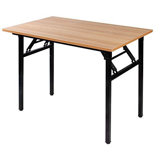 Need Kleiner Klapptisch, zusammenklappbar, 2-Größe/2-farbig L31.5 * W15.7 inches Teak Desktop & Black Leg -