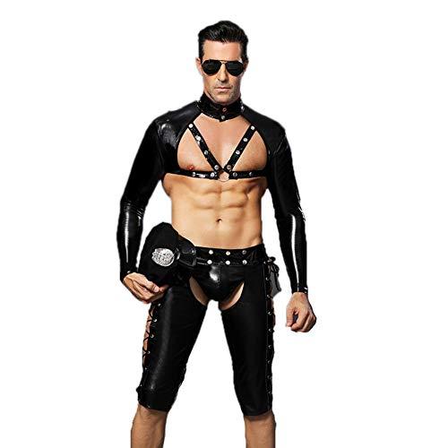 Leder Kostüm Mann - GQMG Sexy Leder Dessous für Männer,
