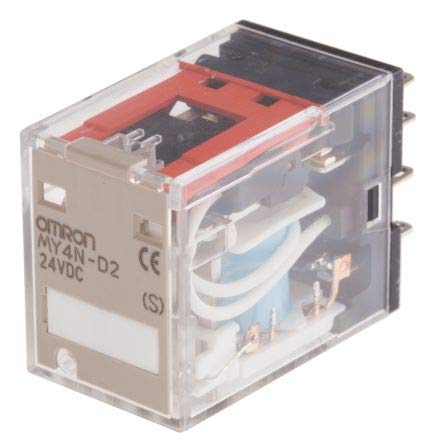 Relais Omron, 5A DPDT, Plug In Typ 4-Pin Steckkupplung, MY4N DC24 (S), 1 Omron Plug-in