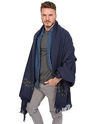 Grande écharpe 'Hinto' tissée à la main en laine mérinos, Édition limitée