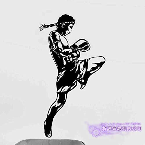 Boxing Club Muay Thai Taekwondo Karate Aufkleber Kick Play Auto Aufkleber Combat Poster Vinyl Striker Wandtattoos Decor-145x82cm