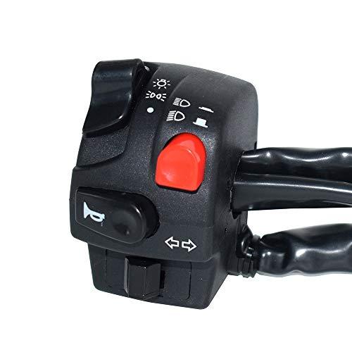 Interruptor de Bocina Luces Arranque Montaje Manillar Motocicleta