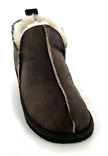 Shepherd Annie, Chaussons Femme Marron - flower/oiled antique