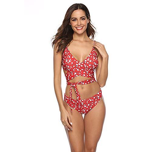 XDDQ Bikini Einteiliger Bademode Vintage Sommer Schwimmen KostüM FüR Frauen Plus Size Bademode Strand Dress Frauen Floral Bikini (Kostüme-ideen Plus Size)
