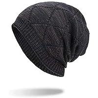 Sombrero Mujer Invierno Elegante ❄ Sonnena Sombreros de algodón geométricos Unisex Warm Winter Sombrero Gorro de Lana