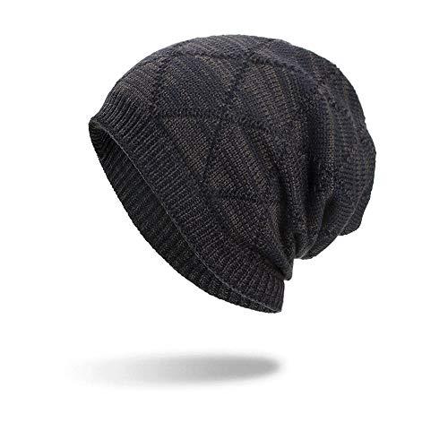 TEBAISE Warme Einfarbig Feinstrick Beanie Mütze mit Flecht Muster und Sehr Weichem Fleece Innenfutter Unisex Feinstrick Beanie Mütze