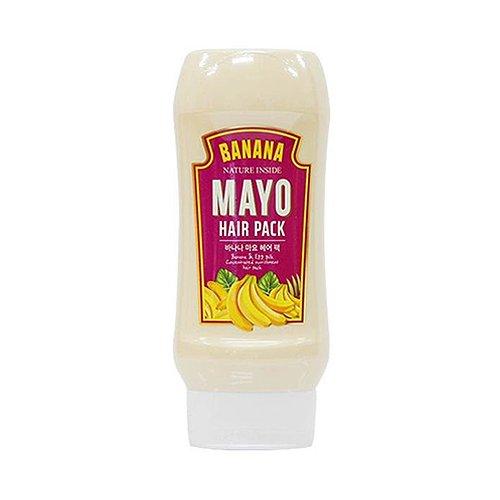 Welcos - Banana Mayo Hair Pack - Haarpackung gegen trockenes Haar mit Bananen Extrakt und Sheabutter - Haarkur für Männer und Frauen - Haarpflegeprodukt für tägliche Haarpflege - Kuren fürs Haar