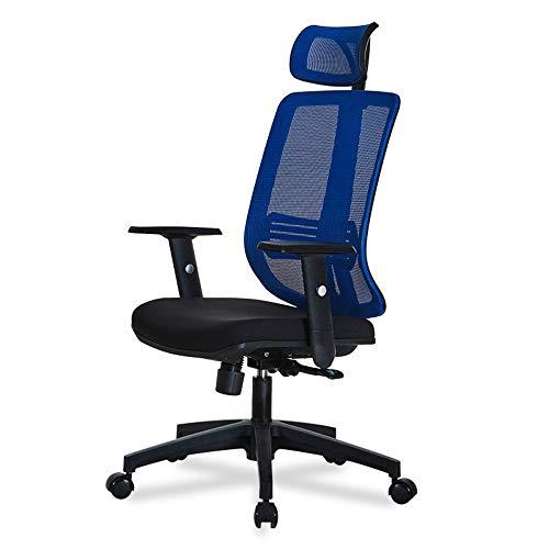 QIN Hoher Rücken Executive Drehstuhl mit Chrom Basis - Schwarz Executive Swivel Computer Stuhl -