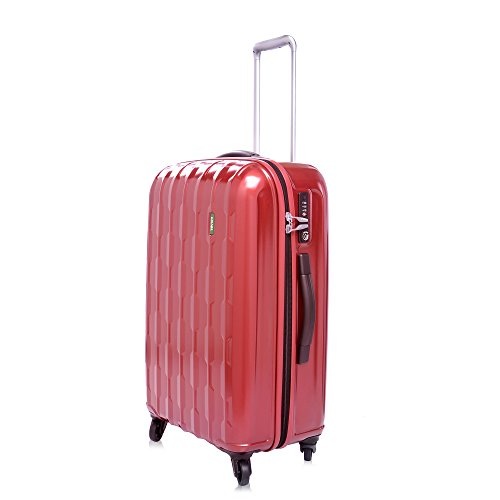 lojel-arrowhead-polycarbonate-medium-upright-spinner-luggage-burgundy-one-size