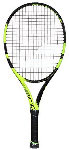 Babolat Pure Aero Junior 26 Tennisschläger, Unisex Kinder, Unisex-Kinder, 140175_0, Schwarz/Gelb, 0 -