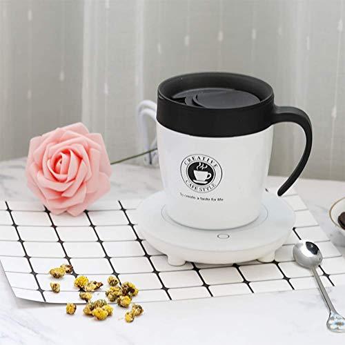 ZNDDB 55 Grad Warme Tasse - Kreative Thermostat-Tasse/Becher, Intelligente Temperatur Bei Milch/Tee, 220V / 15W,EIN Paar