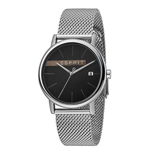Esprit ES1G047M0055 Timber Black Silver Mesh Men's Watch