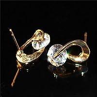 SSEHX earring Austria Crystal Stud Earrings Fashion Jewelry For Women Zircon Gold-color Earrings Wedding Jewelry Best Gift for Lover