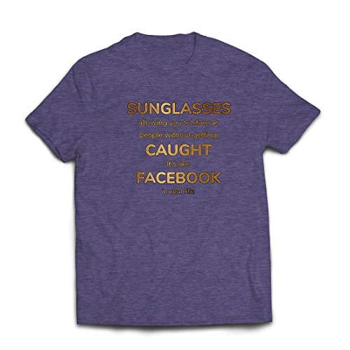 lepni.me Männer T-Shirt Lustiges Facebook-Angebot für Social Media im wirklichen Leben (Large Heidekrautgrau Mehrfarben)