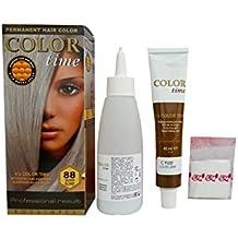 Color time, tinte permanente para el cabello de color rubio plata 88